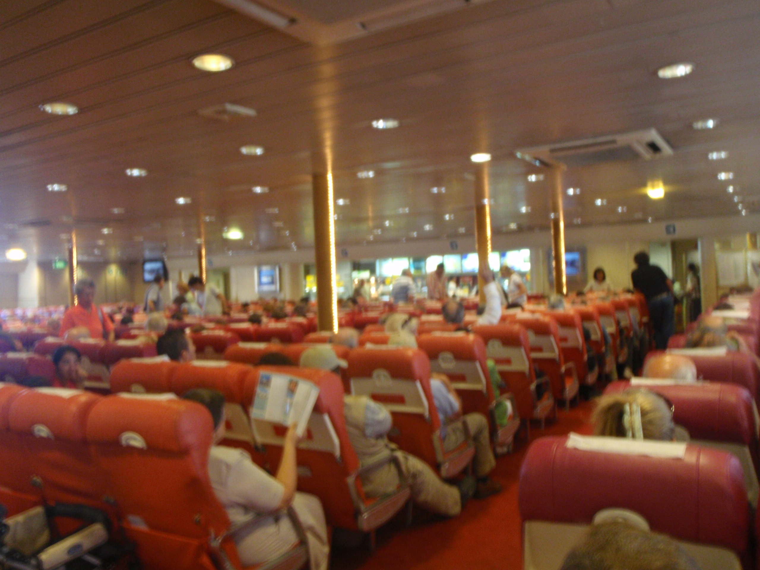 Aboard the ferry on the Rio Plato - from Buenos Aires, Argentina to Colonia, Uruguay