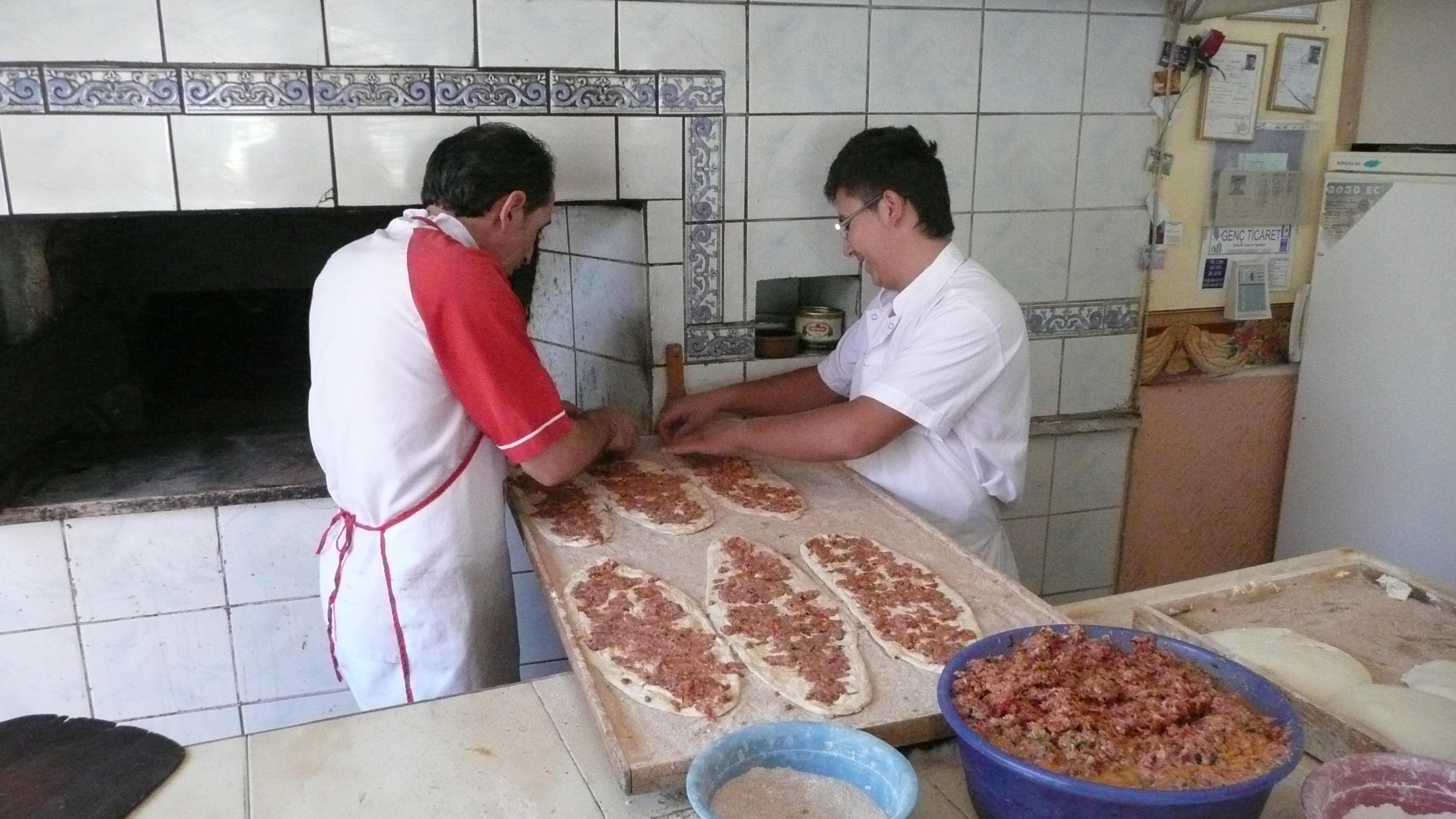 Making pide, Cappadocia Turkey